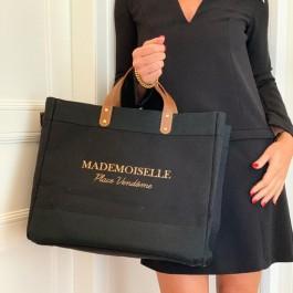 Black Mademoiselle bag Mademoiselle Place Vendome gold glitter