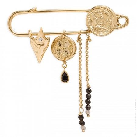 Hipanema Frontera gold brooch