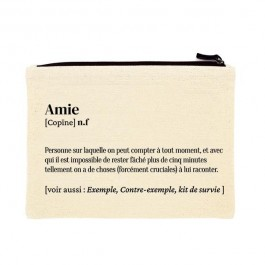 Amie printed cotton pouch