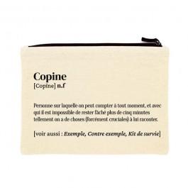 Copine printed cotton pouch
