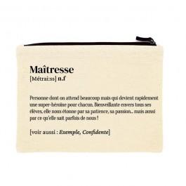 Maîtresse printed cotton pouch