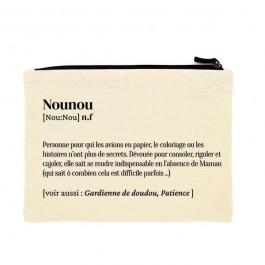 Nounou printed cotton pouch