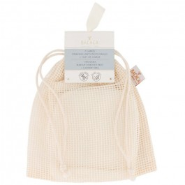Set of 7 Bachca reusable makeup remover pads + laundry bag