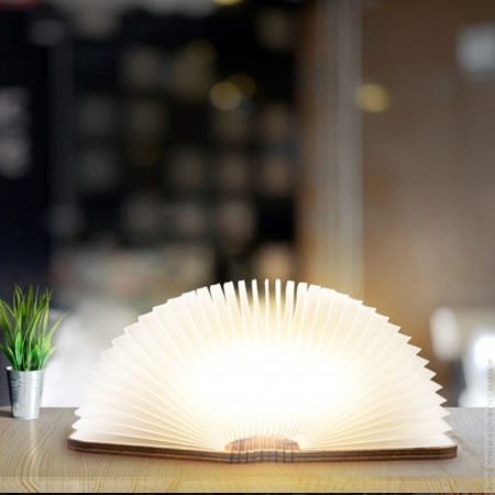 Maple wood book lamp - large size