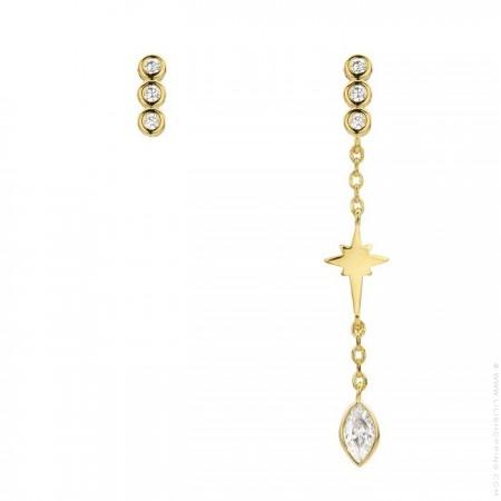 Brroklyn gold platted earrings