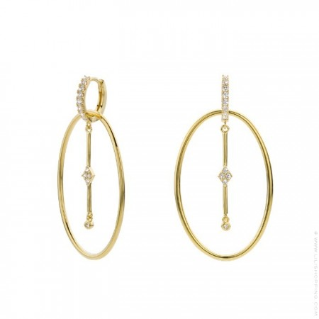 Brroklyn gold platted earrings