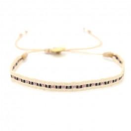 Argentinas beige black rose gold bracelet