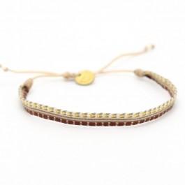Bracelet Argentinas beige brun doré
