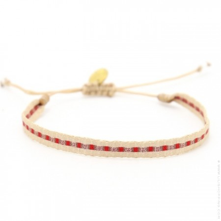 Bracelet Argentinas beige rouge cuivre