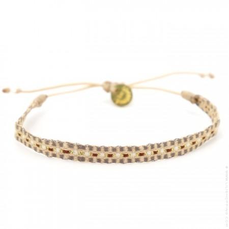 Bracelet Argentinas beige gris brun