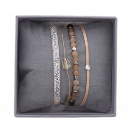 Pink ultra fine rocks bracelets