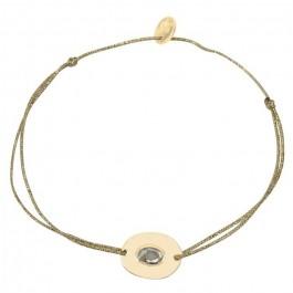 Bracelet Kate plaqué or sur lien lurex