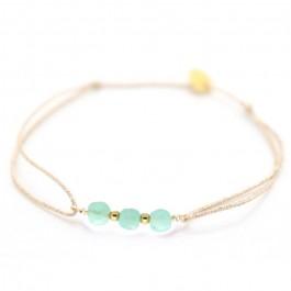 Bracelet Maya briolettes amazonite sur lien lurex