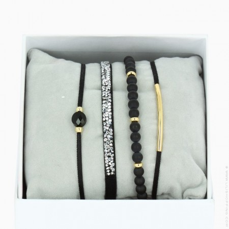 Black La Re Belle bracelets