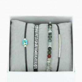 La Re Belle khaki bracelets
