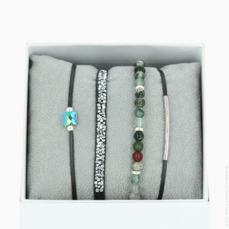 Bracelets La Re-Belle kaki