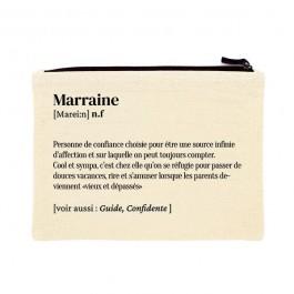 Marraine printed cotton pouch