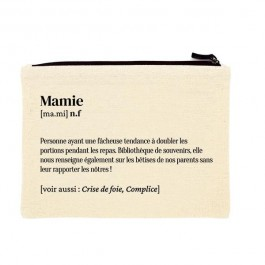 Mamie printed cotton pouch