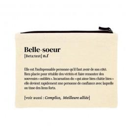 Belle Soeur printed cotton pouch
