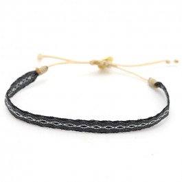 Bracelet Argentinas 120 noir et argent