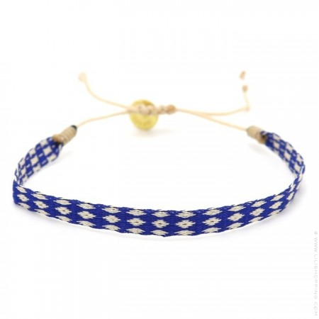 Argentinas 120 navy blue and ivory bracelet