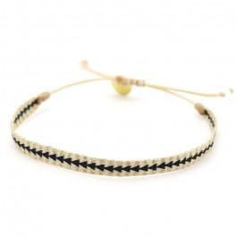 Bracelet Argentinas beige doré noir