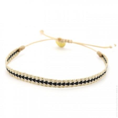 Argentinas beige gold black bracelet
