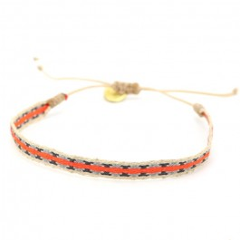 Argentinas orange grey bracelet