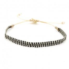 Argentinas black and cream bracelet