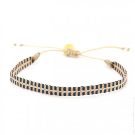 Bracelet Argentinas marine et rose