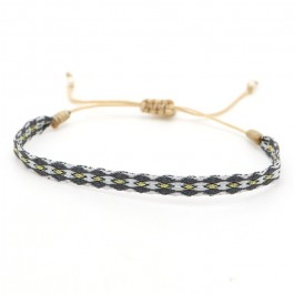 Argentinas silver gold and dark grey bracelet