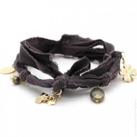 Bracelet doudou anthracite