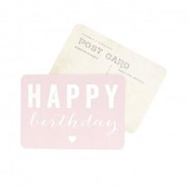 Carte postale Cinq Mai - Happy Birthday rose