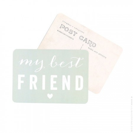 My best friend Cinq Mai postcard