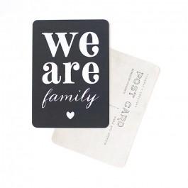 We are Family slate grey Cinq Mai postcard