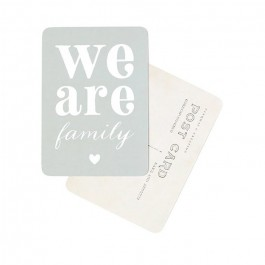We are Family blue Cinq Mai postcard