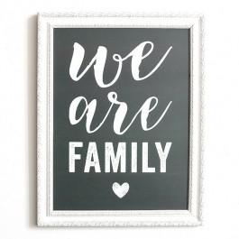 Affiche Cinq Mai - We are Family gris laurier