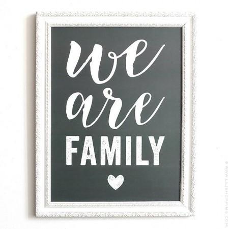We are Family laurel grey Cinq Mai poster