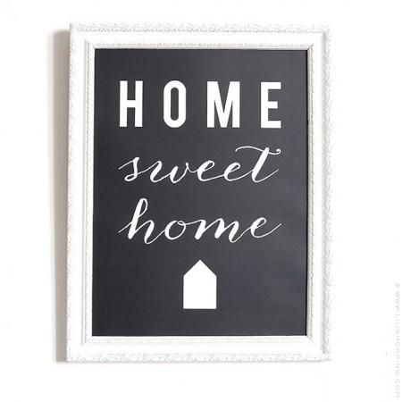Affiche Cinq Mai - Home Sweet Home ardoise