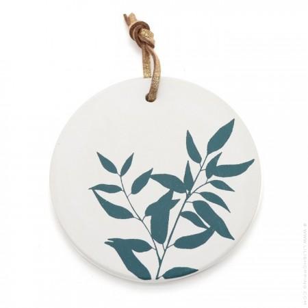 Duck blue plant medaillon