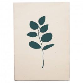 Carte en bois sérigraphiée Eucalyptus canard