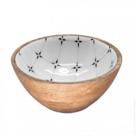 Bol en manguier émaillé - collection diamant