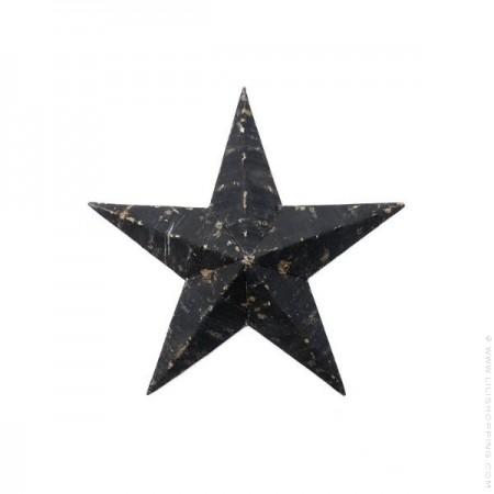 30 cm black Amish Star