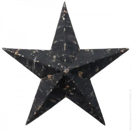 73 cm black Amish Star
