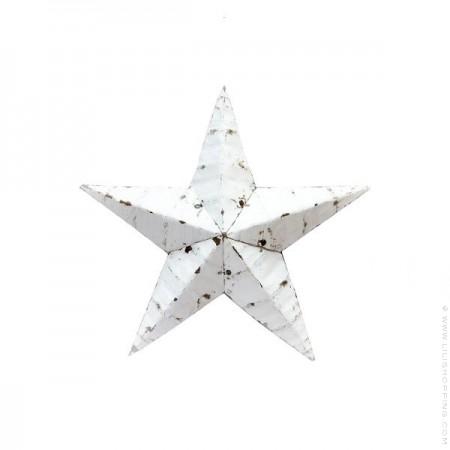 30 cm white Amish Star