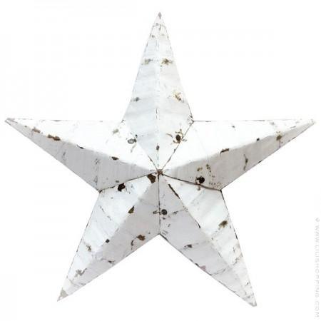 73 cm white Amish Star