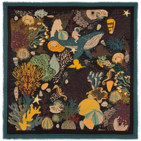 Deepsea pareo (sarong) or scarf