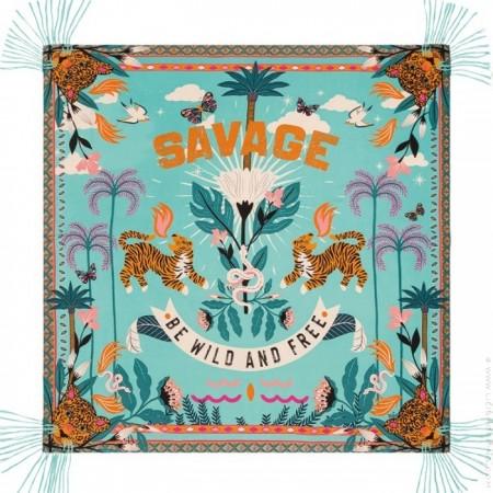 Savage turquoise pareo (sarong) or scarf
