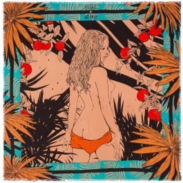 Palmalady turquoise pareo (sarong) or scarf