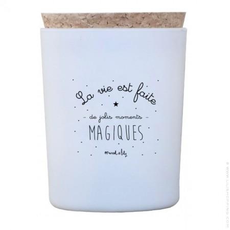 Bougie parfumée La vie est faite de jolis moments magiques